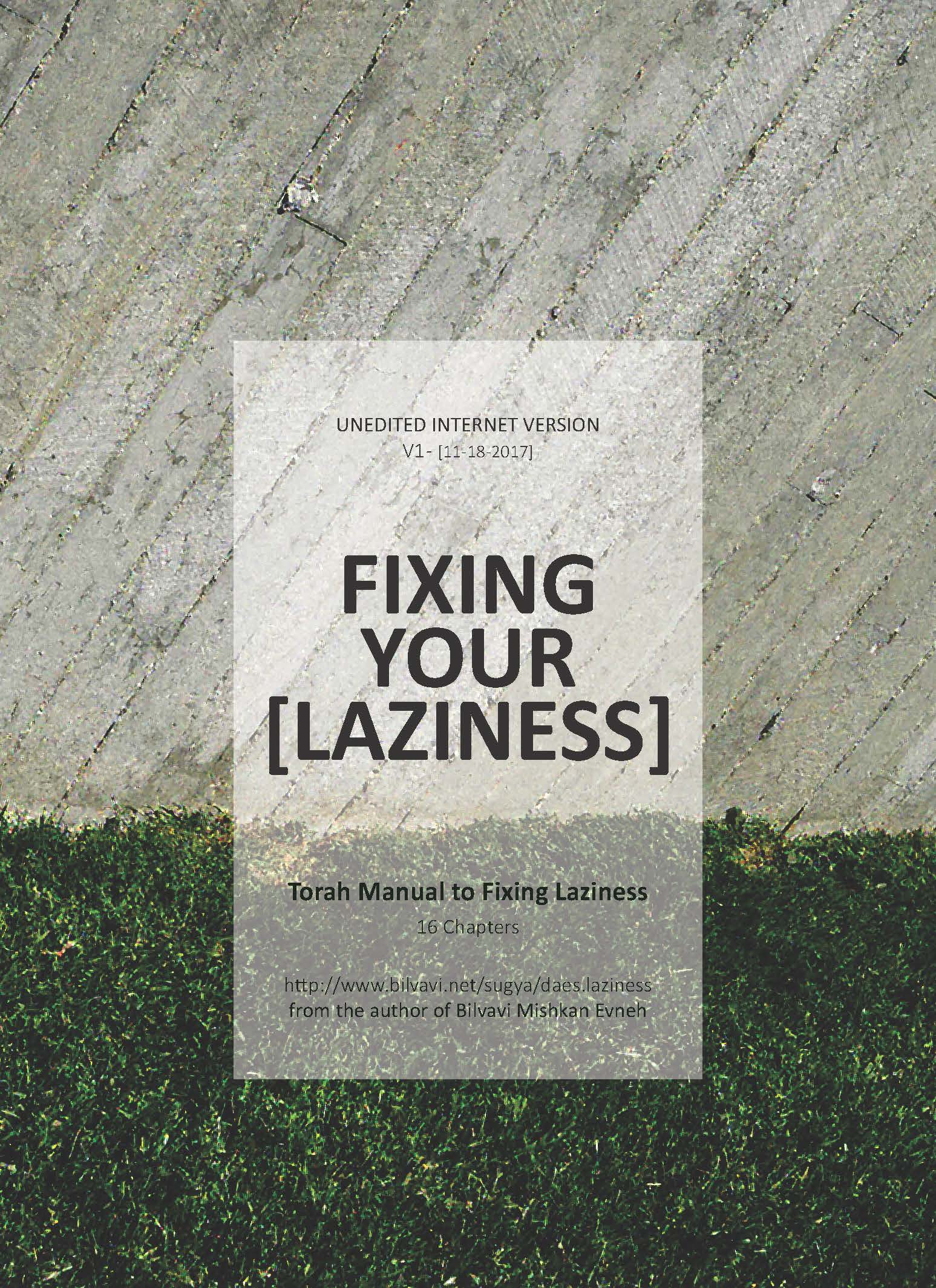 FIXING YOUR LAZINESS